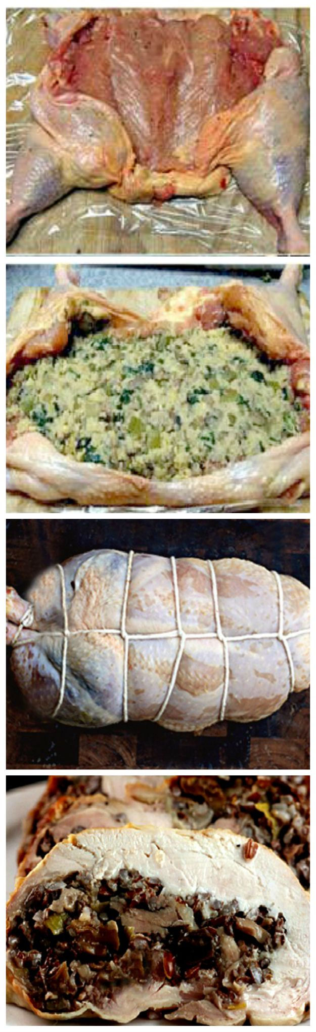 HOW TO DEBONE A WHOLE CHICKEN IN 15 MINUTES WITH MINIMAL CUTTING! After that learn how to stuff and roll it into the most amazing stuffed chicken you'll ever have!