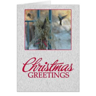 Hungry Birds on a Winter Day Greeting Card