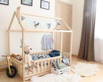 Best 25 toddler floor bed ideas on pinterest for House frame floor bed plans