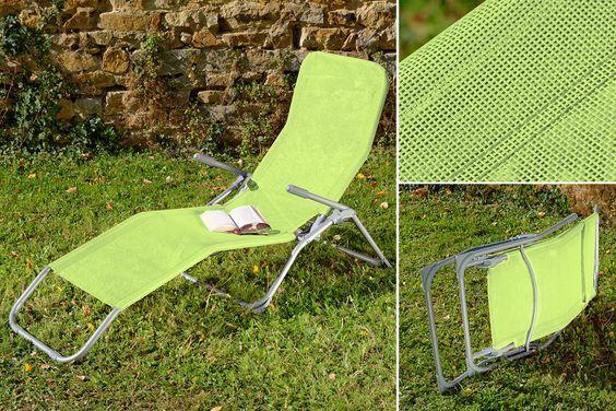 Sonnensessel EASY in den Farben Anisgrün #Sonnensessel ...