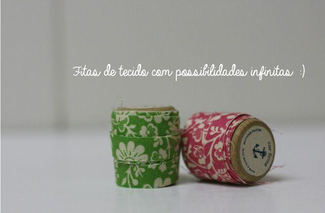 DIY: Fitas adesivas de tecido (washi tape de tecido)