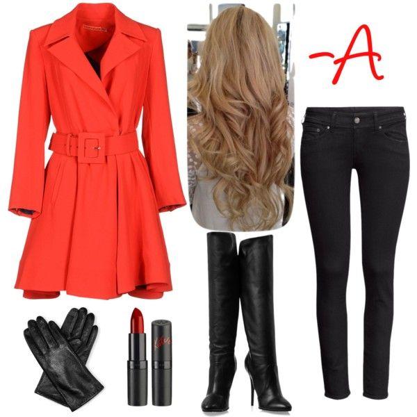 last minute costume idea - red coat from pretty little liars