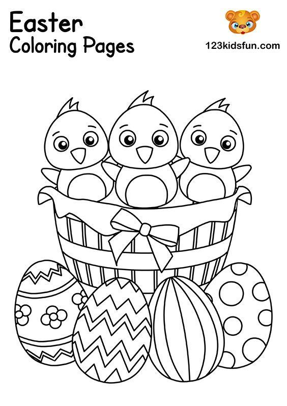 Easter Eggs Basket Coloring Pages. FREE Easter printables.   – Easter