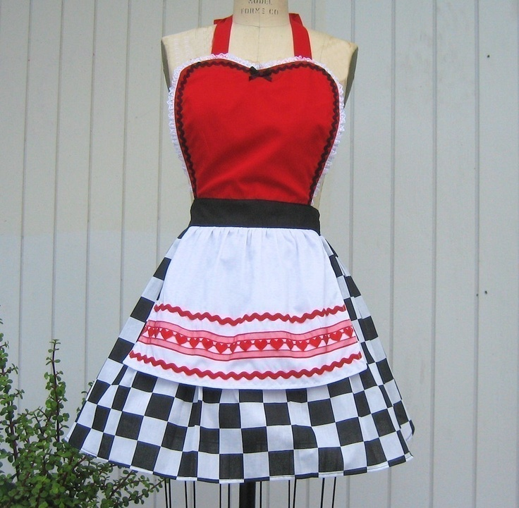 50's diner inspired apron