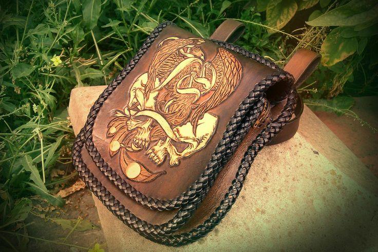#leatherwork #Leathercraft, #leather #products, #leather #Кожа, #изделия из #кожи, #тиснение на #коже, #набедренная #сумка