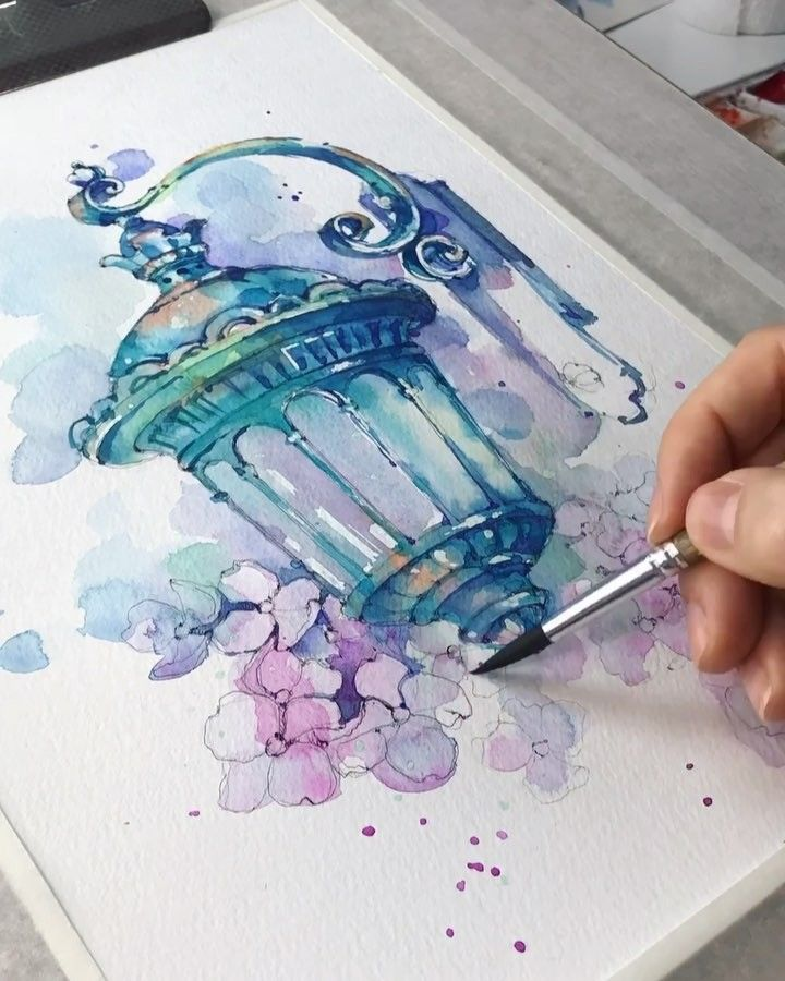 Watercolor Sketching On Instagram Spring Sooon