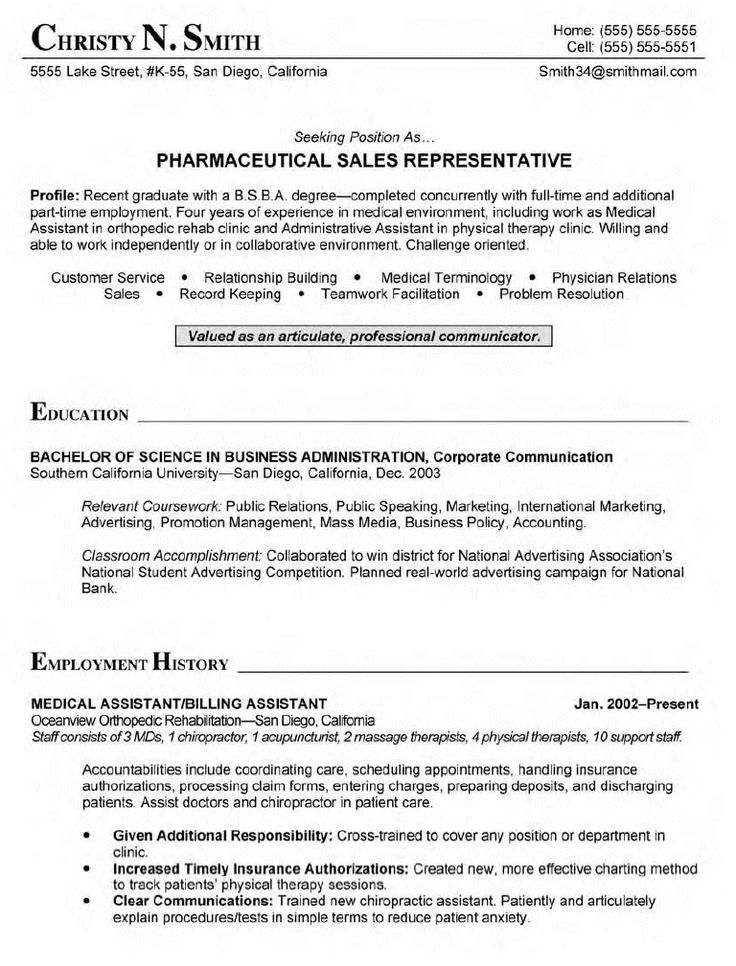 The 25+ best Medical assistant cover letter ideas on Pinterest - sample resume for any position