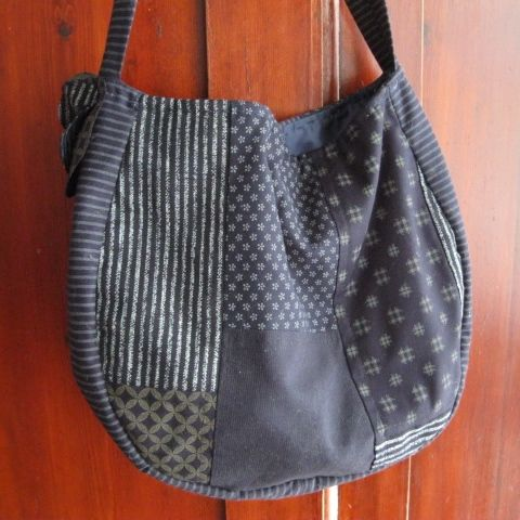 Patchwork bag made using Japanese fabrics