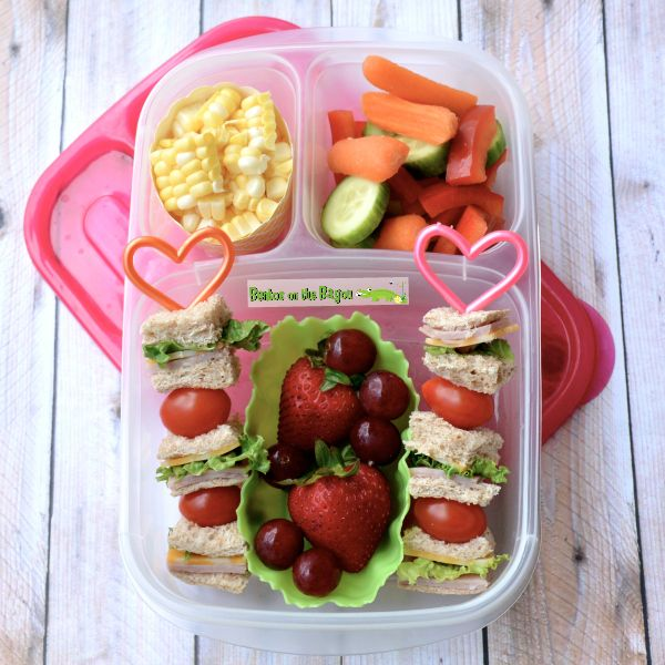 Sandwich kabobs | packed in @EasyLunchboxes containers