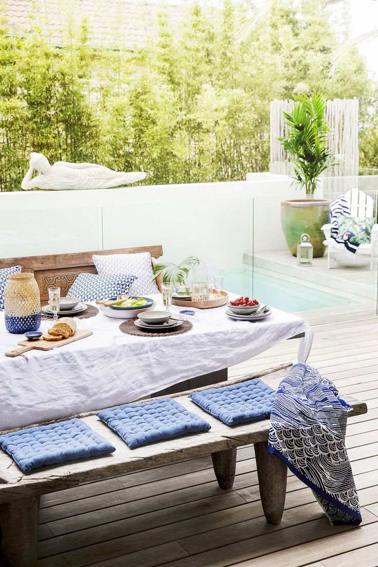 Home Beautiful takes the style challenge and decorates an entire outdoor space from bed bath n' table on a budget!