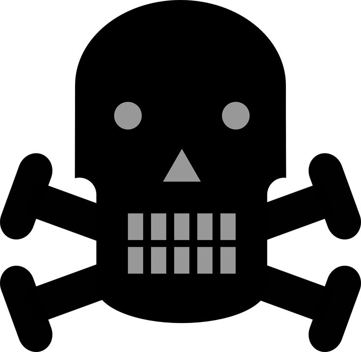 Crossbones Danger Pirate Skull transparent image