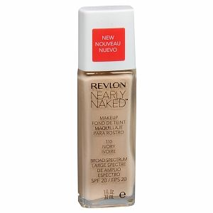 Revlon Nearly Naked Foundation. I love this! I can't remember the last time  I bought drugstore foundation....... The 90s? Light weight but buildable, not cakey. I do wish it had a pump but for $8 I'm not complaining ! Ps I tried a sample of the Hourglass veil foundation ($50) and this is a millions times better. The hourglass one ( thankfully) was awful.