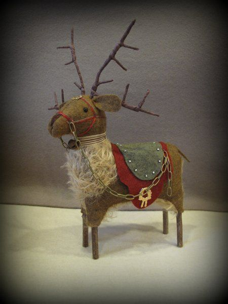 FINISHED+PIECE+Prancer+Antique+Inspired+by+cheswickcompany+on+Etsy,+$65.00