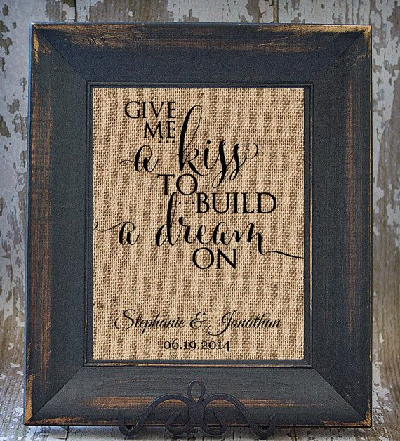 Rustic Scroll Design: Give Me A Kiss To Build A Dream On Rustic Wedding Fancy