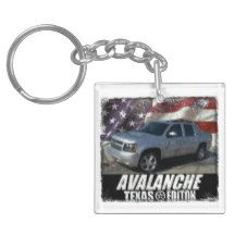 2013 Avalanche LS Texas Edition Double-Sided Square Acrylic Keychain