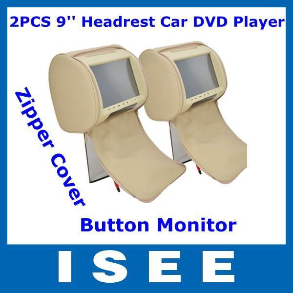 Wholesale 2PCS 9'' Digital Touch Button Monitor Pillow Headrest Car DVD Player with Zipper Cover Free Shipping, $179.75/Piece | DHgate Mobile