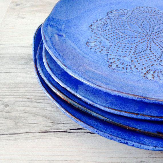 Home dinnerware in Blue  handmade dinnerware by BlueDoorCeramics