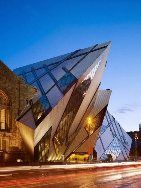 Architectural Designs - Royal Ontario Museum – Canada Beautiful Canadian Homes #Canada #architecture #interiordesign