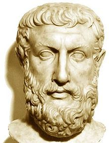 """Parmenides of Elea -early 5th BCE was an ancient Greek philosopher founder of the Eleatic school  In his a poem, On Nature, he describes two views of reality: In """"the way of truth""""  he explains how """"what-is"""" is one, change is impossible, existence is timeless, uniform, necessary and unchanging. In """"the way of opinion,"""" he explains the world of appearances,  one's sensory faculties lead to conceptions which are false and deceitful. These ideas strongly influenced the whole of Western…"""