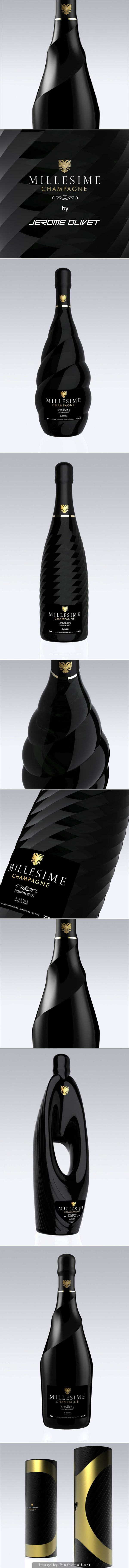 MILLESIME #Champagne #packaging by Jerome Olivet - http://www.packagingoftheworld.com/2014/11/millesime-champagne.html
