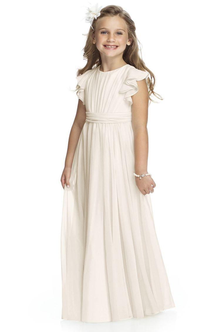 326 best flower girls ringbearers images on pinterest flower flutter sleeve long chiffon flower girl dress ombrellifo Gallery