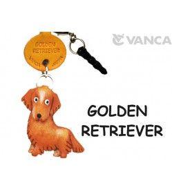 Golden Retriever Leather Flower Earphone Jack Accessory
