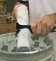 como hacer la limpieza de los rodillos texturizados