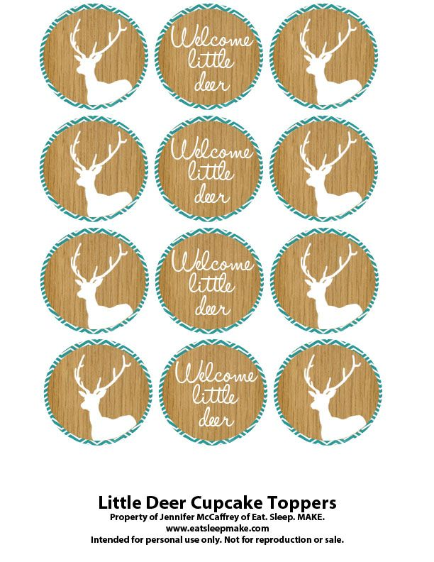 Little Deer Baby Shower (Printables + FREE Cupcake Toppers)