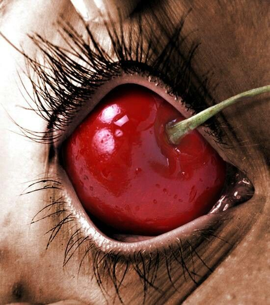 Dark art: Cherry Eyeball ... Truly gross lol