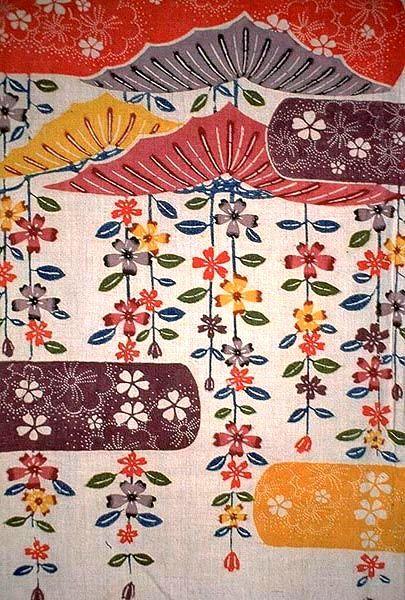 松桜文様紅型 京都国立博物館 http://www.kyohaku.go.jp/jp/dictio/senshoku/ryui.html
