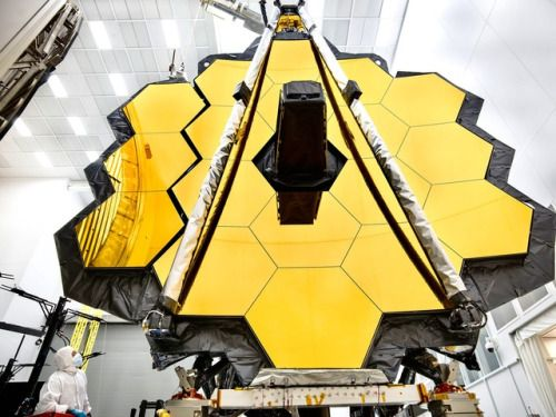 James Webb Space Telescope Primary Mirror Prepared for Testing...  James Webb Space Telescope Primary Mirror Prepared for Testing at Johnson Space Center via NASA https://go.nasa.gov/2rmS1PM  URL: http://bit.ly/2qt41jl Managed by: IKAHANA http://bit.ly/2pL8aPu