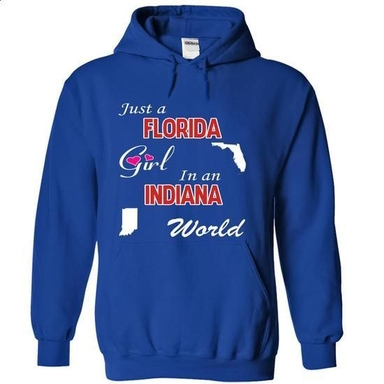Just a Florida Girl in an Indiana World - wholesale t shirts #teeshirt #hoodie