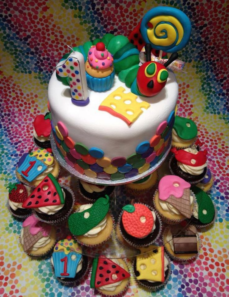 Very Hungry Caterpillar Fondant 3d Cake Toppers by ECTOPPERS, $29.99
