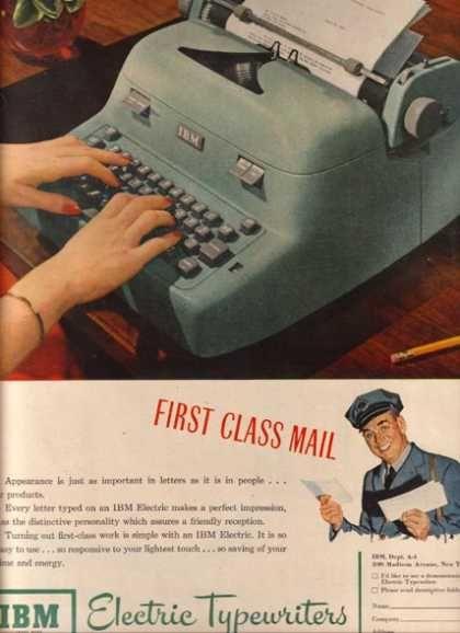 IBM Electric Typrwriter, Love The Blue!