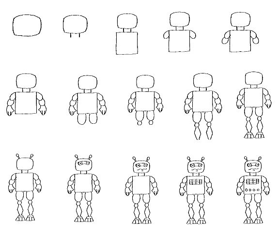 Image Detail For How To Draw Robot
