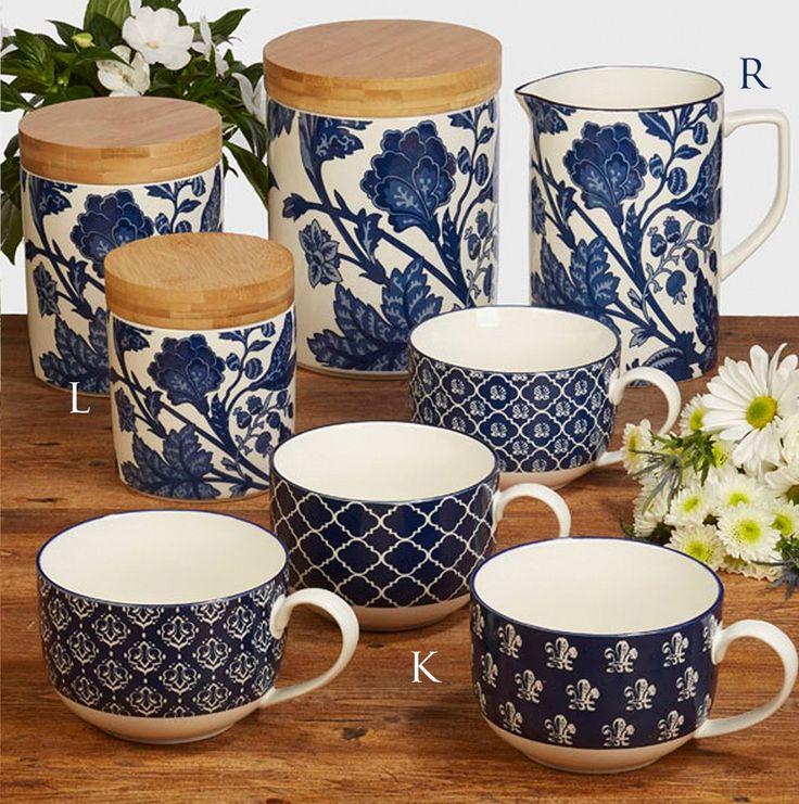 Blue Indigo Dinnerware by Bronson Pinchot Espresso Cups - SPECIAL EDITION