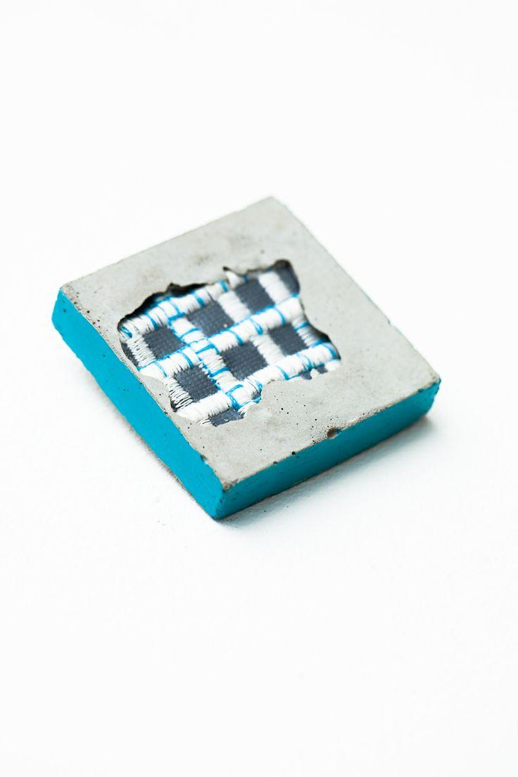 Trinket Tile  Concrete & Textile combo