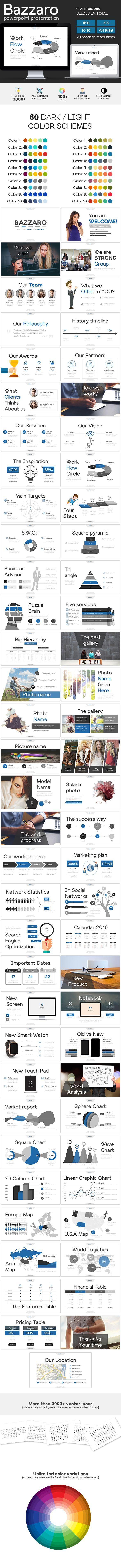 Bazzaro - Multipurpose PowerPoint Template - PowerPoint Templates Presentation Templates
