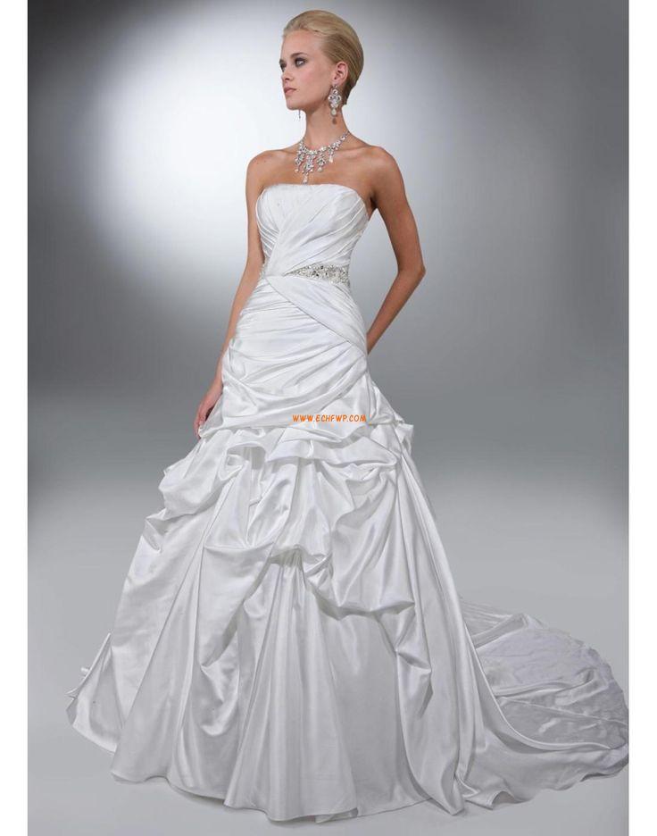 Ragyog & Csillog Pánt nélküli Gyöngydíszítés Évjárat Menyasszonyi ruhák