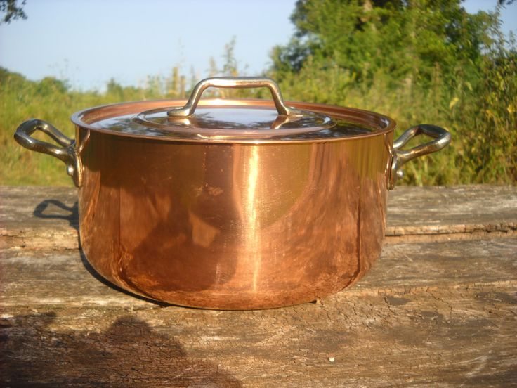 les cuivres de faucogney french copper casserole dish with tin lining cast iron handles