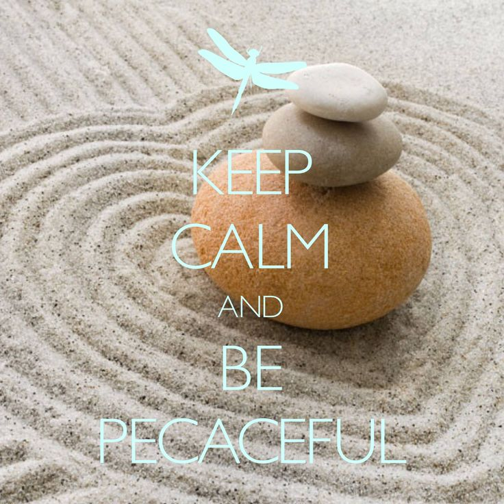keep calm and be peaceful / Created with Keep Calm and Carry On for iOS #keepcalm #zen