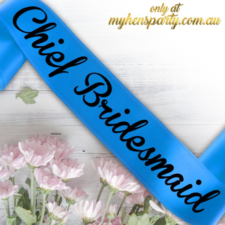 Chief BridesmaidPrintedSash Our stylishChief Bridesmaid Printed Sashis the latest trend in wedding must haves! Made in-house at the My Hens Party Shop in Sydney we offer you...