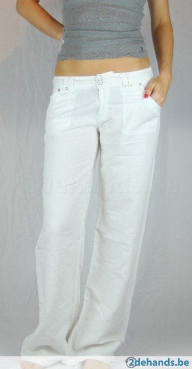 Witte linnen broek van New look tall - Maat 40