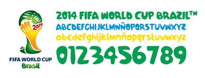 Free Download FIFA World Cup Brasil 2014 Pagode Font