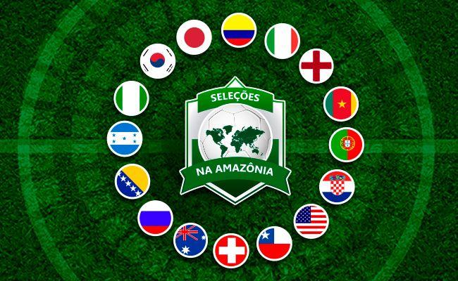 Seleções que jogam na Amazônia durante a Copa de 2014