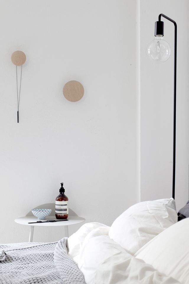 Sunny and light bedroom with Urbanara