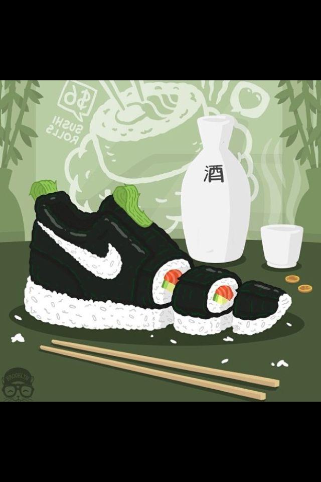 96a42ec0e5de  Nike  Sushi  Art
