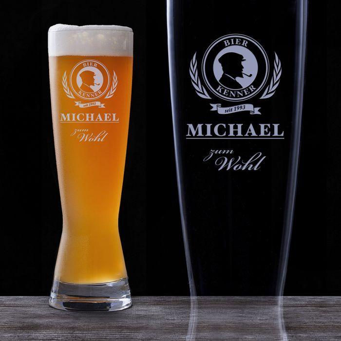 Dieses Glas ziert ein schickes, bewusst schlicht und elegant gehaltenes Motiv. Dadurch ist das Bierglas für Bierliebhaber besonders geeignet. via: www.monsterzeug.de