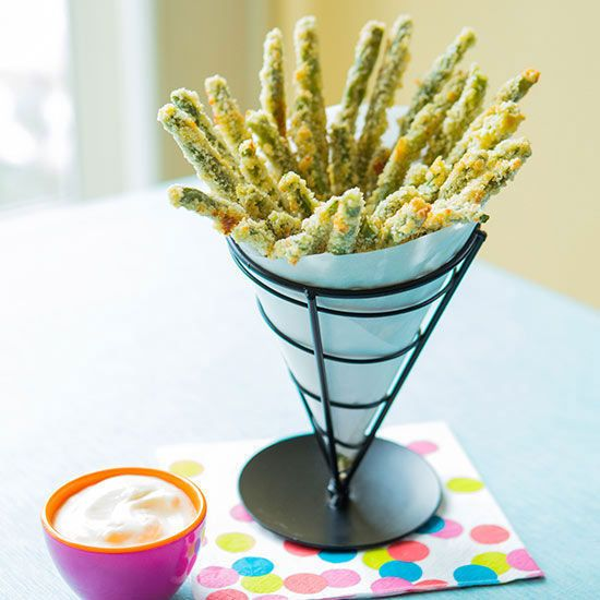 These crunchy beans coated with Parmesan and panko are as addictively tasty as the french fries that inspired them.