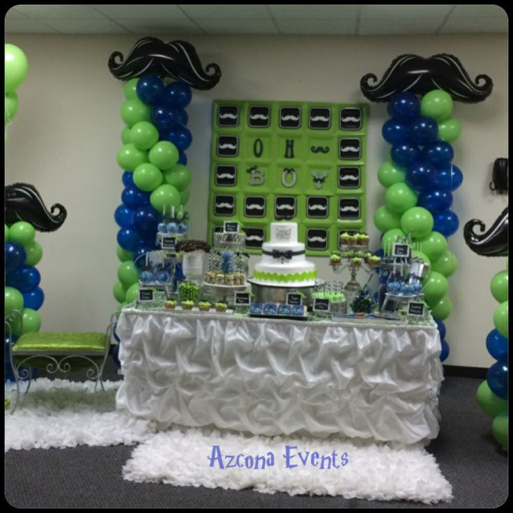 Baby Shower Mustache Theme: Mustache Themed Baby Shower By Azcona Events
